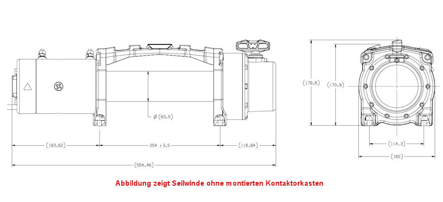 seilwinde warn tabor 12 12v kg zugkraft ohne seil ohne rsf warn seilwinden. Black Bedroom Furniture Sets. Home Design Ideas