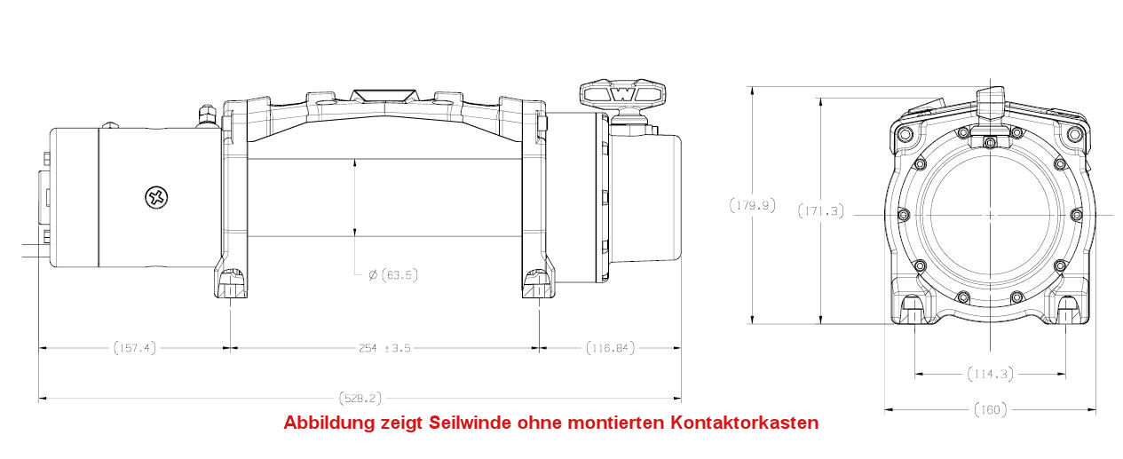 seilwinde warn tabor 10 24v kg zugkraft ohne seil ohne rsf warn seilwinden. Black Bedroom Furniture Sets. Home Design Ideas