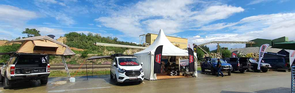 Taubenreuther Messestand beim Globetrotter-Rodeo 2021 in Limberg