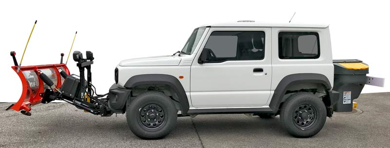 Suzuki Jimny 2018 mit Winterdienstausrüstung